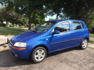 05 Chev Aveo 4 dr hatch -107000 km timing belt service complete