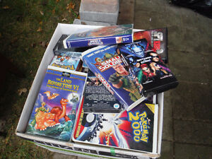 box full of vhs kids tapes London Ontario image 1