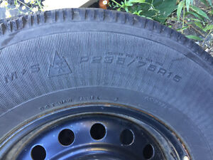 235/75R15 Goodyear Nordic M+S mounted on Jeep Steel Rims