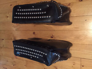 Classic Studded Leather Saddlebags. The real thing.