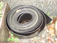 """3/8"""" Thick x (6"""" to18"""" deep) Rubber, Lawn (or) Garden  Edging"""