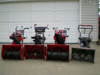 Used Snowblowers all have been reconditioned
