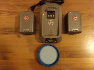 2- 20.0V MAX LI-ION BAT.CHAR,FILTER, FOR HOOVER AIR CORDLESS VAC