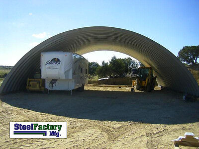 Steel 45x90x17 Quonset Barn Farm Hay Grain Storage Livestock Horse Building Kit