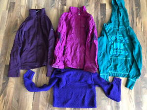 3 sweaters, 1 jacket, all for $20 small, xs
