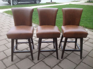 "3 New "" Boston Counter Stools "" from Costco -Swivel Seat - All 3"