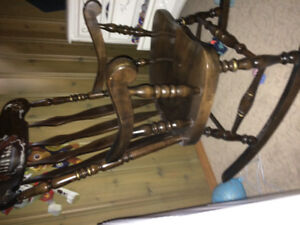 Wooden vintage rocking chair