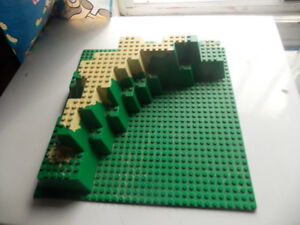 """Rare Lego 10"""" x 10"""" Foothill Baseplate"""