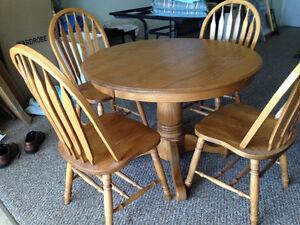 Solid Oak Dining Set