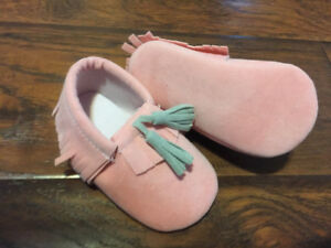 new pink moccasins slippers
