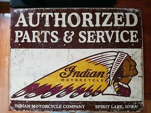 Indian Motorcycle metal sign.