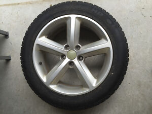 """17"""" Winter tires with rims. 225/50/R17 (Audi)"""
