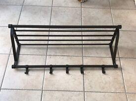 IKEA - Hat Rack (Steel shelf with 5 coat hooks!)