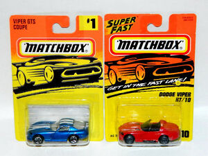 Matchbox 1/64 Scale Dodge Viper Diecast Cars