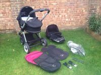 Lovely iCandy Apple carrycot and pushchair.