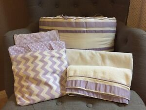 Pottery Barn Crib Bedding - Purple