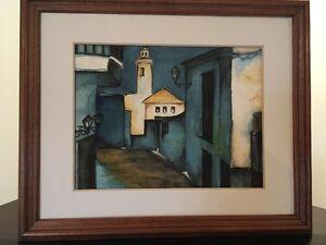 Peinture Aquarelle Ruelle de Provence