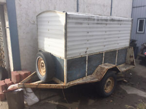 4 x 8 COVERED UTILITY TRAILER FOR SALE