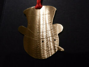 Handmade Tree Ornaments in Jewellers Brass