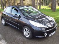 2007 07 Plate Peugeot 207 1.4 16v 90 Sport In Black , Look