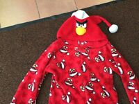 Angry Bird Red Velour Onesie