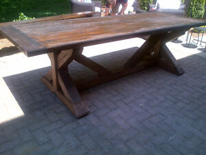 CUSTOM HAND CRAFTED FARMHOUSE HARVEST TABLES Peterborough Peterborough Area image 3
