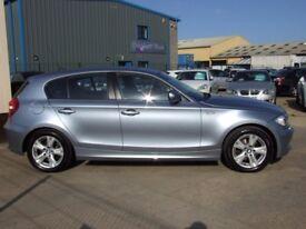 Blue BMW 1 series 2010