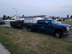 2004 Chevrolet 250 and dump trailer swap with a dump truck