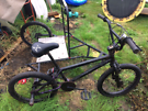 BMX Bike with stand on side car unit