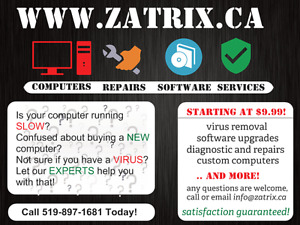 Computer technical services, affordable and reliable!