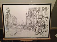 Hand drawn wellgate steps 1960's (signed)