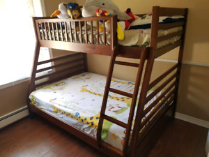 Bunk Bed (Double+Twin) for SALE!!! ALMOST NEW!!!