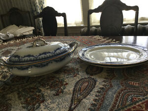 FURTHER REDUCED! Antique tureen and underplates