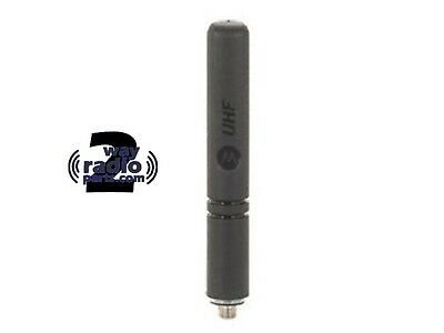 Real Motorola Mototrbo Uhf Xpr7550 Radio Stubby Antenna Pmae4070a 440-490 Mhz