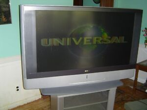 SONY 50' WIDESCREEN PROJECTION TV WITH MATCHING  STAND