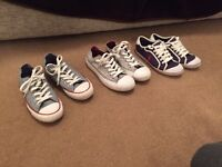 Ralph Lauren and Converse Ladies trainers size 4.5 / 5 used but good condition