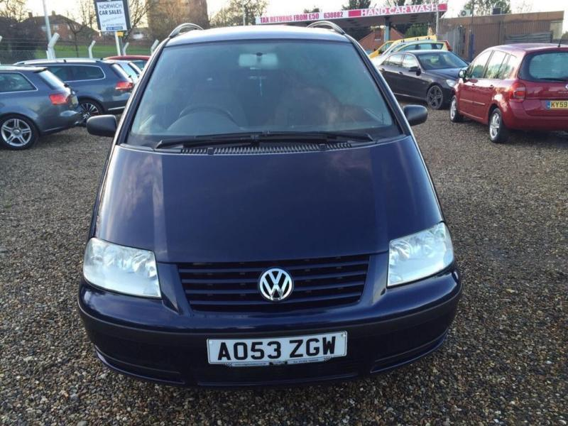 2003 volkswagen sharan 1 9 tdi pd carat 5dr in norwich. Black Bedroom Furniture Sets. Home Design Ideas