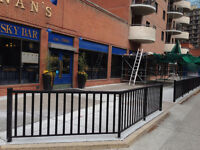 100% local custom made aluminum railings