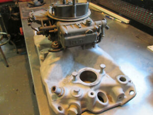 Edelbrock   intake with Holly Carb