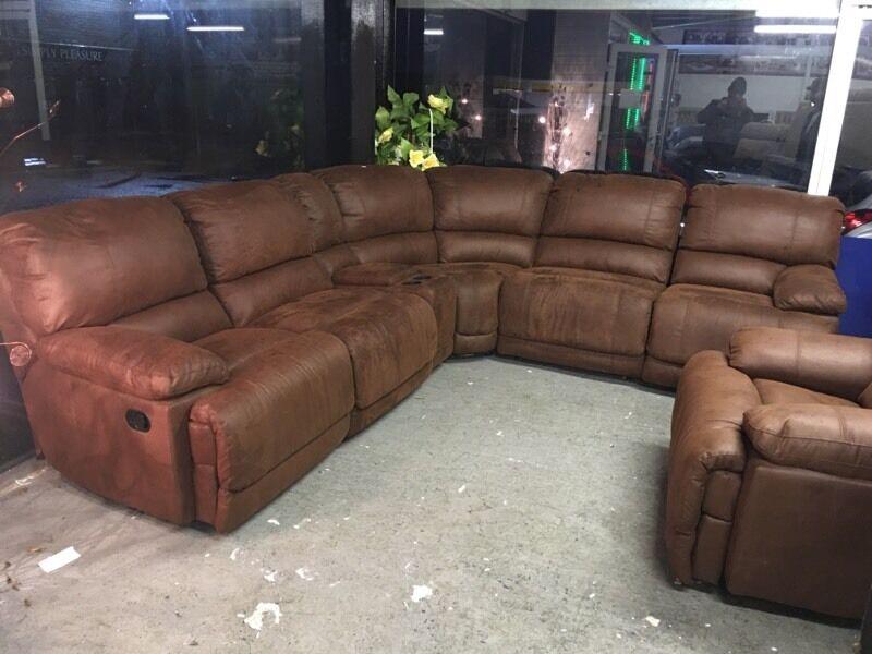 Harvey S Guvnor Big Corner Recliner Sofa And Armchair