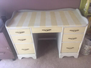 Funky solid wood desk for sale! Great for kids