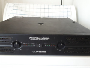 2 speaker Yorkville 15p + American Audio VLP 1500 Amplifier