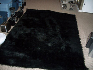 Mint Black area rug