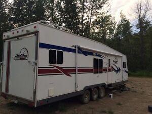 30 ft toy hauler camper redline
