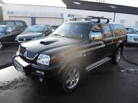 MITSUBISHI L200 2.5 TURBO DIESEL ANIMAL TWINCAB PICKUP BLACK WITH BLACK LEATHER