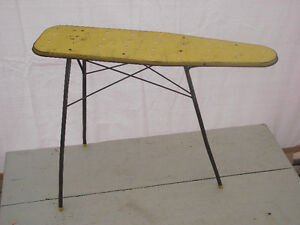 Vintage Child's Ironing Board and Plastic Iron
