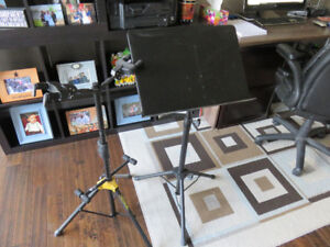 Guitar stand and Music stand
