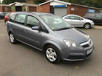 Vauxhall Zafira 1.6i 16v Club 2007 + 85K + JUNE 17 MOT + 7 SEATER