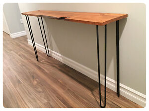 Live egde barn board and hairpin leg table