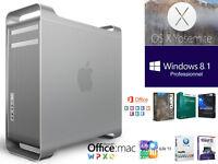 APPLE MAC PRO DUAL INTEL XEON QUAD CORE 2.8 GHZ DD 2 TO RAM 10 G
